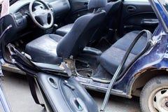 Ruinierte Autonahaufnahme Lizenzfreie Stockbilder