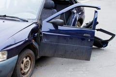 Ruinierte Autonahaufnahme Lizenzfreies Stockbild