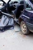 Ruinierte Autonahaufnahme Lizenzfreies Stockfoto