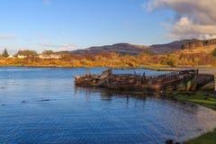 Ruinierte Boote auf dem Ufer Lizenzfreies Stockbild