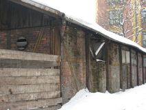 Ruinierte Hallen, Krakau lizenzfreies stockfoto