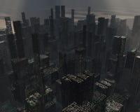 Ruinierte Stadt stock abbildung