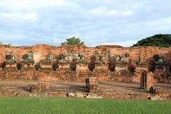 Ruinierte Statue von Buddha, Ayuthaya, Thailand. lizenzfreies stockfoto