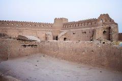 Ruinierte traditionelle Häuser des luftgetrockneten Ziegelsteines Lizenzfreies Stockbild