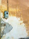 Ruinierte Wand in Koroni, Griechenland Stockbilder