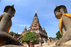 Ruinierter alter Tempel von Ayutthaya, Thailand Lizenzfreie Stockbilder