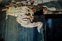 Ruinierter bulding Ziegelstein Stockfotos