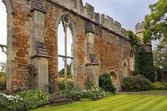 Ruinierter großer Hall durch die Bischöfe Palast, Somerset, England Stockbilder