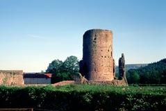 Ruinierter Kontrollturm in Wales Stockbilder