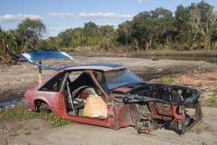 Ruiniertes Auto Stockbild
