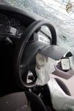 Ruiniertes Auto mit Heizschlauch Lizenzfreies Stockfoto