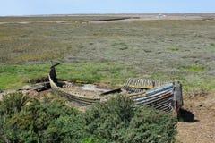 Ruiniertes Boot, Blakeney, Norfolk Lizenzfreie Stockbilder
