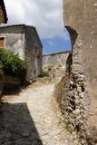 Ruiniertes Dorf in Korfu Lizenzfreie Stockfotos