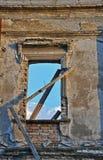 Ruiniertes Fenster Stockfotografie