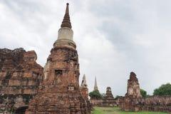 Ruiniertes Gebäude von Wat Maha That, Ayutthaya Lizenzfreies Stockfoto