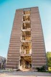 Ruiniertes Industriegebäude der Höhe Lizenzfreies Stockbild