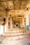 Ruiniertes Industriegebäude der Höhe Lizenzfreie Stockbilder