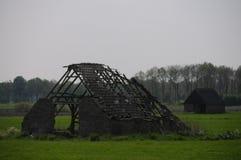 Ruiniertes niederländisches Gutshaus Stockbild