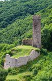Ruiniertes philipps Schloss auf dem Monreal Lizenzfreies Stockbild