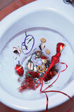 Ruiniertes Weihnachtskonzept Stockfoto