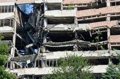 Ruinous building in Belgrade Royalty Free Stock Photo