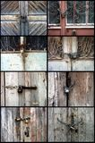 Ruinous doors Royalty Free Stock Photography