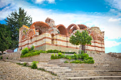 The ruinous of Old church in Nessebar , Bulgaria. Stock Photo