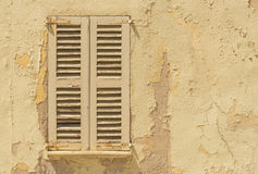 Ruinous shutters Stock Photos