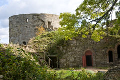 Ruins. Of medieval fortress in Russia Stock Image