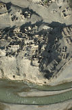 Ruins. A detailed view of an old village in front o f a river in the eastern part of the kabul province royalty free stock photography