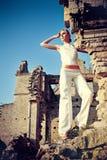 At a ruins Stock Photo