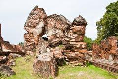 Ruins. Of Wat Mahathat in Ayutthaya Royalty Free Stock Photo