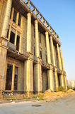 Ruins. Back view of the Romanian Academy building,placed in Bucharest,Sirenelor(Mermaids) Street stock image