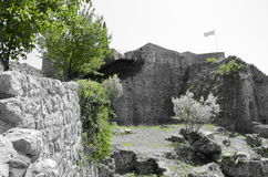 Ruins. The ruins of a old Bar town castle in Montenegro Royalty Free Stock Photos
