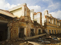 Ruins. The destruction houses after earthquake Royalty Free Stock Image