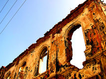 Ruins. Old ruined building royalty free stock photography