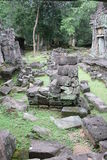 Ruins. Structural Ruins at Angkor Wat Stock Photo
