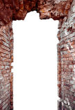 Ruins. Through a door of ruins of the ancient castle Royalty Free Stock Photo