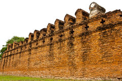Ruins. Brick wall texture in ruins temple at ayutthaya province,Thailand stock photos