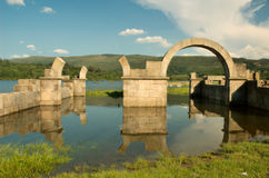 Ruins. Roman ruins flood by the river Royalty Free Stock Photography