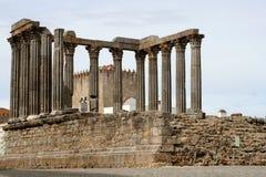 Ruins. Temple of Diana, Evora, Alentejo, Portugal Stock Image