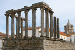 Ruins. Temple of Diana, Evora, Alentejo, Portugal Stock Photo