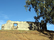 Ruins. A ruined house on a hill in Paphos district, Cyprus Royalty Free Stock Photography