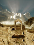 Ruins. Fantasy Ruins in the sea Royalty Free Stock Images