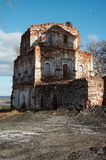 Ruins. Of old monastery, Pinega river, Russia royalty free stock images