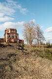 Ruins. Of old monastery, Pinega river, Russia Stock Photo