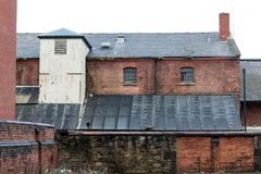 Urban Decay. The ruins and abandoned buildings that surround Wigan Pier Royalty Free Stock Photo