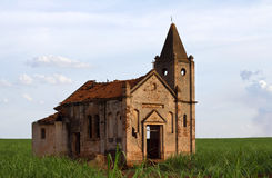 Ruins of an abandoned church Royalty Free Stock Image