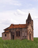Ruins of an abandoned church Royalty Free Stock Photo