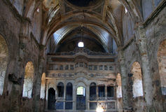 Ruins of abandoned church in Kayakoy, Turkey Royalty Free Stock Image